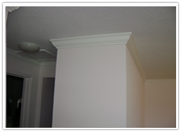 finished crown molding